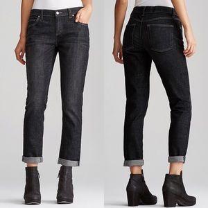 Eileen Fisher Organic Cotton Black Boyfriend Jeans